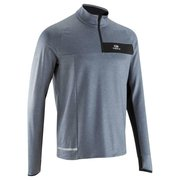 CAMISETA MANGA LARGA RUNNING HOMBRE RUN WARM+ GRIS KALENJI